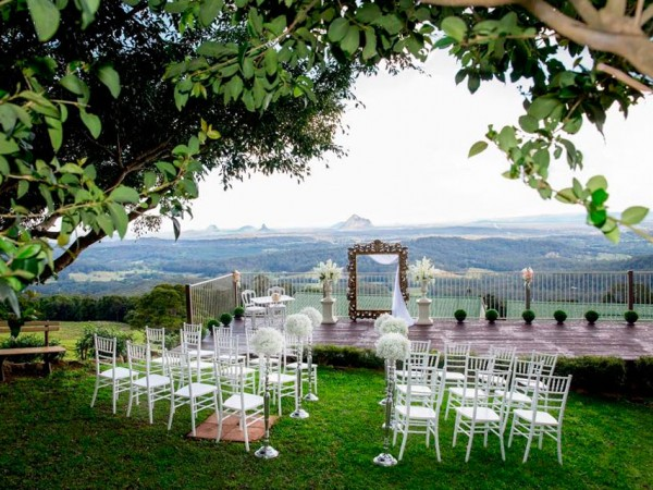 Organise Your Wedding With Tranquil Park Venue Maleny Montville Ceremonial Garden Glasshouse